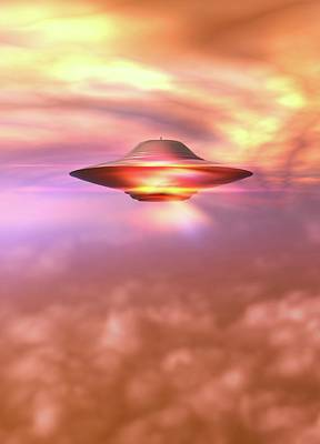 Unidentified Photograph - Ufo In A Cloudy Sky by Victor Habbick Visions