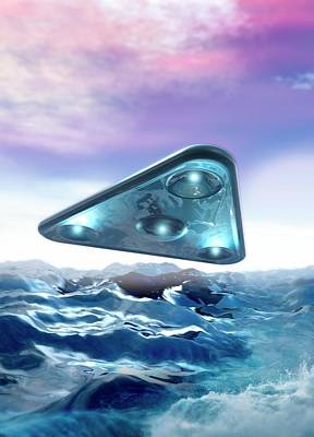 Unidentified Photograph - Ufo Over The Sea by Victor Habbick Visions