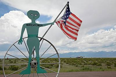 Colorado State Flag Photograph - Ufo Watchtower by Jim West