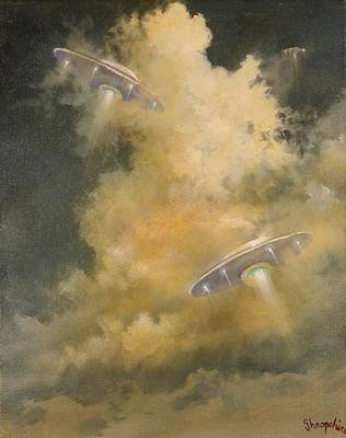 Ufo's Breaking Cloud Cover Original by Tom Shropshire