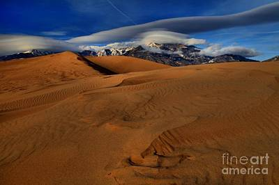 Photograph - Ufos Over Sand Dunes by Adam Jewell