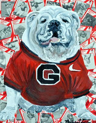 Uga Bulldog II Print by Michael Lee
