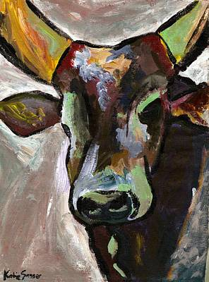 Painting - Ugandan Long Horn Cow by Katie Sasser