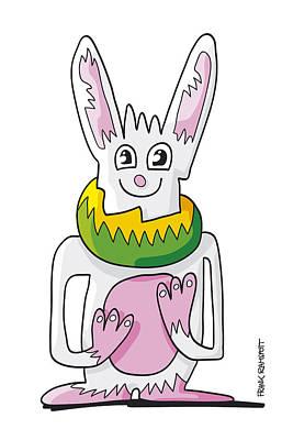 Ugly Rabbit Doodle Character Art Print