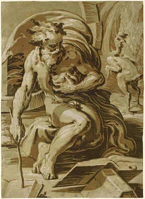 Ugo Da Carpi After Parmigianino Italian Art Print