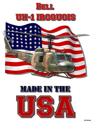 Made In The Usa Digital Art - Uh-1 Iroquois Made In The Usa by Mil Merchant
