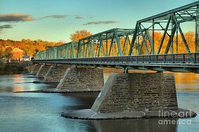 Photograph - Uhlerstown-frenchtown Bridge Fall Colors by Adam Jewell