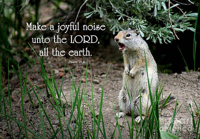 Uinta Ground Squirrel - Psalm 98 Art Print