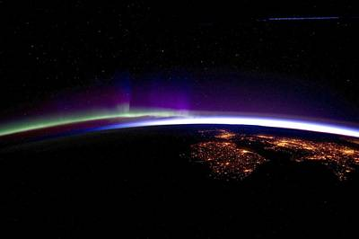 Uk And Ireland At Night, Iss Image Art Print by Science Photo Library