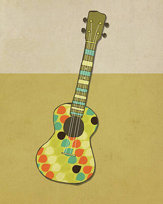 Guitar Wall Art - Painting - Uke I by Lisa Barbero