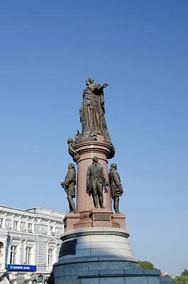 Ukraine, Odessa Downtown Odessa, Statue Art Print