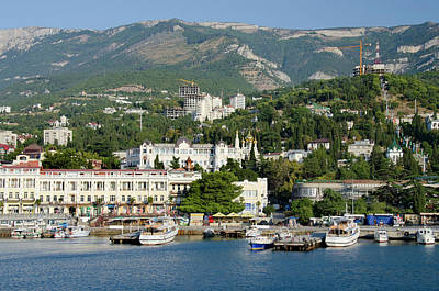 Ukraine, Yalta Black Sea View Art Print by Cindy Miller Hopkins