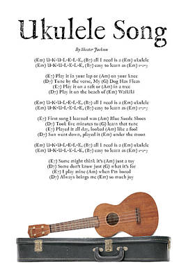 Ukulele Song Art Print
