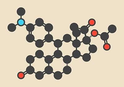 Sexual Intercourse Photograph - Ulipristal Acetate Contraceptive Molecule by Molekuul