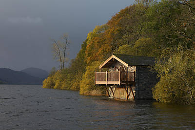 Photograph - Ullswater Boat House by Nick Atkin