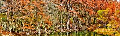 Medina Lake Photograph - Ultimate Cypress Panoramic by Michael Tidwell