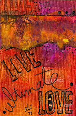 Mixed Media - Ultimate Love Is A Just So Colorful by Angela L Walker