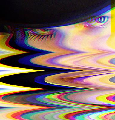 Trippy Digital Art - Ultraglitch by Enad Yenrac