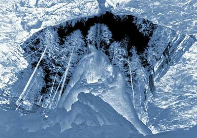 Electromagnetic Spectrum Photograph - Ultraviolet Cave In Winter by Dan Sproul