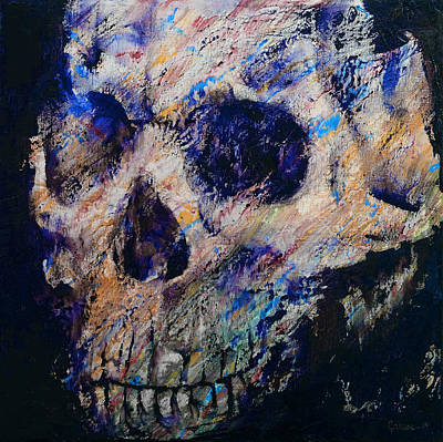 Ultraviolet Skull Print by Michael Creese
