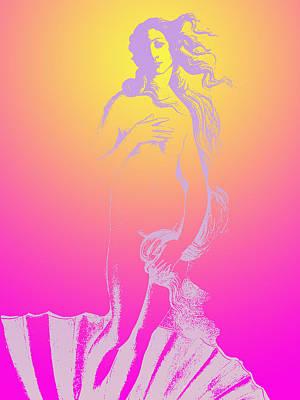 Middle Aged Female Nude Digital Art - Ultraviolet Venus by