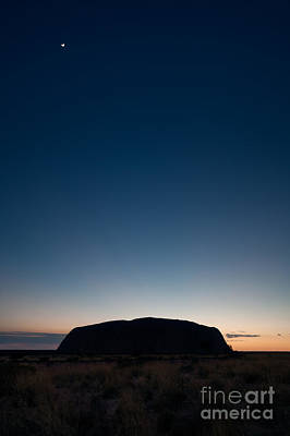 Beautiful Landscape Photograph - Uluru And The Moon by Matteo Colombo