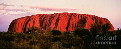 Photograph - Uluru At Sunset by Suzanne Luft