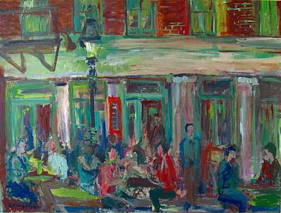 Painting - Ulysses On Stone Street by Edward Ching