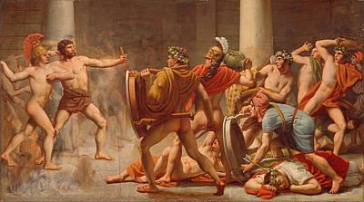 Penelope Painting - Ulysses Revenge On Penelopes Suitors by Christoffer Wilhelm Eckersberg