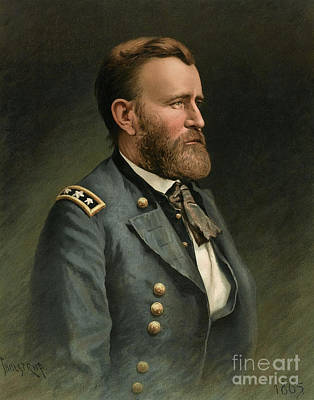 Photograph - Ulysses S Grant 18th Us President by Wellcome Images