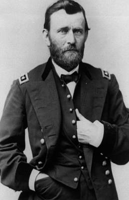 Cameo Photograph - Ulysses S Grant by American School