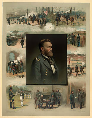 General Grant Drawing - Ulysses S Grant - From West Point To Appomattox  by Mountain Dreams