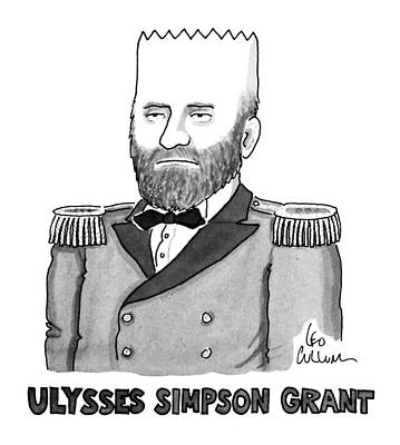 Cartoon Characters Drawing - Ulysses Simpson Grant by Leo Cullum