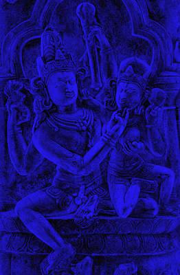 Uma Maheshvar In Alingan Mudra Art Print