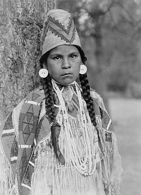 Earrings Photograph - Umatilla Girl Circa 1910 by Aged Pixel