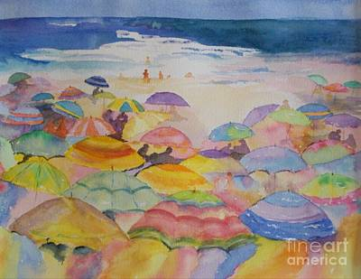 Painting - Umbrella Abstract by Joanne Killian