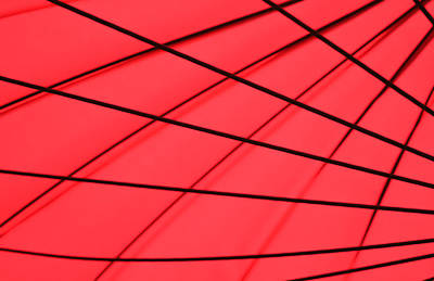 Interior Photograph - Red And Black Abstract by Tony Grider