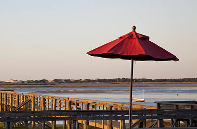 Photograph - Umbrella At Barnstable Harbor by Charles Harden
