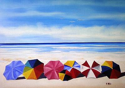 Painting - Umbrella Day by Maria Mills