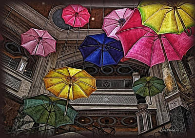 Digital Art - Umbrella Fun by Joan  Minchak