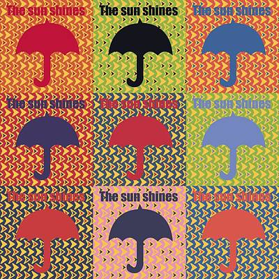 Umbrellas Mixed Media - Umbrella In Pop Art Style by Tommytechno Sweden