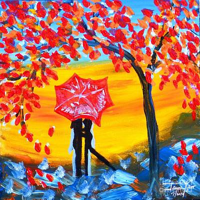 Painting - Umbrella Moment by Jayne Kerr