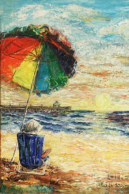 Umbrella Sunrise Art Print