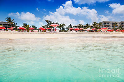 Photograph - Umbrellas And Chairs On Grace Bay Beach by Jo Ann Snover