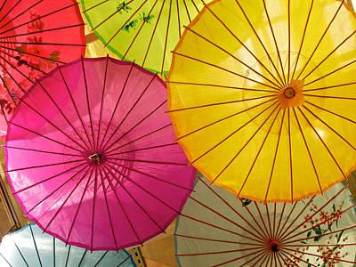 Photograph - Umbrellas Galore by Cornelis Verwaal