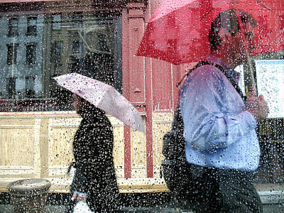 Photograph - Umbrellas In The Rain by Dave Beckerman