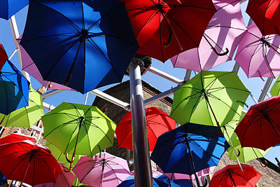 Umbrellas In The Sky Art Print