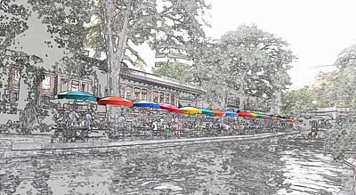 Photograph - Umbrellas Of Casa Rio by C H Apperson