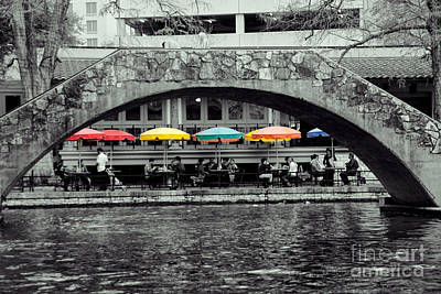 Umbrellas Of Many Colors Print by John Kain
