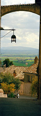 Assisi Photograph - Umbrian Countryside Viewed Through An by Panoramic Images